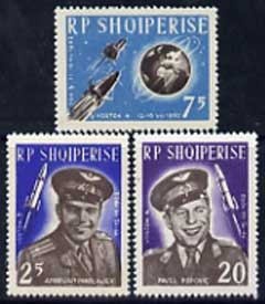 Albania 1963 First Team Manned Space Flights set of 3 unmounted mint, SG 739-41