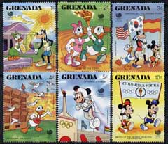 Grenada 1988 Seoul Olympic Games short set of 6 to 10c unmounted mint, featuring Disney characters, SG 1742-47