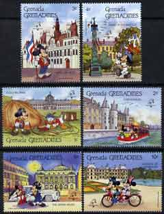 Grenada - Grenadines 1989 Philexfrance 89 short set of 6 to 10c unmounted mint featuring Disney characters in Paris, SG 1145-50