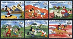 Grenada - Grenadines 1988 Sydpex '88 and 60th Birthday of Mickey Mouse short set to 10c featuring Mickey & friends in Australia unmounted mint, SG 1031-1036