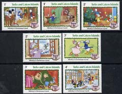Turks & Caicos Islands 1982 Christmas short set to 4c (7 vals) showing scenes from Walt Disney