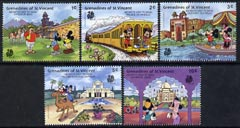 St Vincent - Grenadines 1989 'India 89' Int Stamp Ex short set to 10c featuring Disney cartoon characters in India unmounted mint, SG 591-95