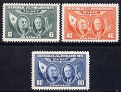 Philippines 1947 Air set of 3 unmounted mint, SG 641-43