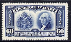 Haiti 1938 Air 150th Anniversary of US Constitution 60c unmounted mint, SG 334