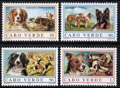 Cape Verde Islands 1995 Dogs set of 4 unmounted mint, SG 760-63