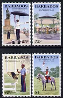 Barbados 1985 150th Anniversary of Royal Barbados Police set of 4 unmounted mint, SG 789-92