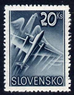 Slovakia 1939 Air Eagle & Aero A-204 20k green unmounted mint, SG 64