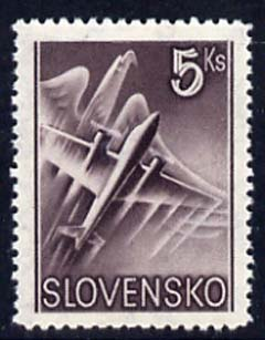 Slovakia 1939 Air Eagle & Aero A-204 5k purple unmounted mint, SG 62