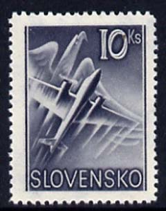Slovakia 1939 Air Eagle & Aero A-204 10k grey unmounted mint, SG 63