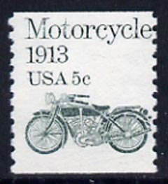 United States 1981 Pope motorcycle 5c coil stamp imperf x perf unmounted mint, SG 1870