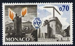 Monaco 1965 Roman Beacon & Chappe's telegraph 70c unmounted mint, from ITU Centenary set, SG 823