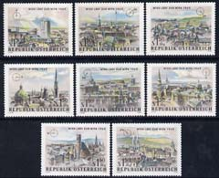 Austria 1964 WIPA Stamp Exhibition set of 8 unmounted mint, SG 1428-35