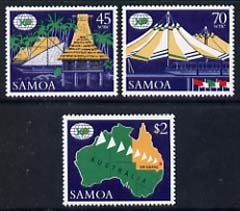 Samoa 1988 Expo 88 World Fair, Brisbane set of 3 unmounted mint, SG 779-81