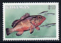 Bahamas 1986-90 Red Hind $10 (without imprint date) mmh, SG 773A