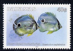 Bahamas 1987 Four-eyed Butterflyfish 40c (1987 imprint date) unmounted mint, SG 794