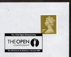 Postmark - Great Britain 2005 cover for 134th Open Championship with special St Andrews cancel