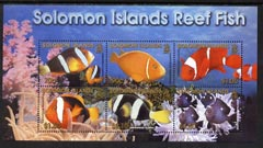 Solomon Islands 2001 Reef Fish perf m/sheet unmounted mint, SG MS 1002