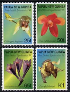 Papua New Guinea 1998 Orchids perf set of 4 unmounted mint, SG 837-40
