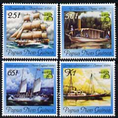 Papua New Guinea 1999 'Australia 99' Stamp Exhibition (Ships) perf set of 4 unmounted mint, SG 853-56