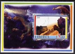 Liberia 2005 Dinosaurs #1 perf souvenir sheet fine cto used