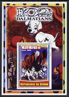 Benin 2005 Disney's 102 Dalmations #1 perf m/sheet fine cto used