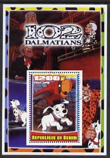 Benin 2005 Disney's 102 Dalmations #4 perf m/sheet fine cto used