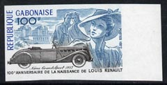 Gabon 1977 Birth Centenary of Louis Renault (motor pioneer) 100f imperf from limited printing, unmounted mint as SG 626