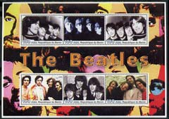 Benin 2003 The Beatles #2 perf sheetlet containing set of 6 values unmounted mint