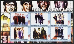 Ivory Coast 2003 The Beatles #2 perf sheetlet containing set of 6 values unmounted mint