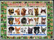 Somalia 2005 Domestic Animals #2 (Cats & Dogs) perf sheetlet containing 9 values unmounted mint
