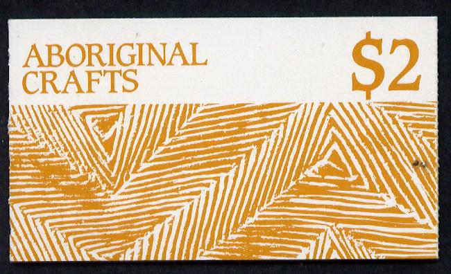 Booklet - Australia 1987 Aboriginal Crafts $2 booklet complete (SG SB58)