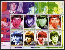 Somalia 2005 The Beatles large perf sheetlet containing 8 values unmounted mint
