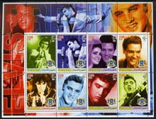 Somalia 2005 Elvis Presley large perf sheetlet containing 8 values unmounted mint