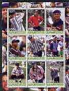 Somaliland 2001 Millennium series - Golf Stars perf sheetlet containing 9 values unmounted mint