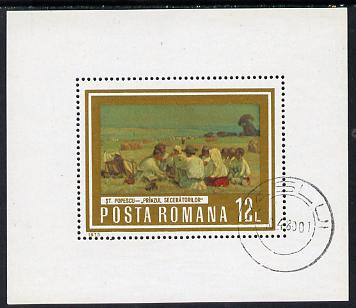 Rumania 1973 Paintings of Workers (Harvest Meal) m/sheet cto used SG MS 4031