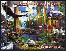 Kyrgyzstan 2004 Fauna of the World - Swamps of N America perf sheetlet containing 6 values unmounted mint