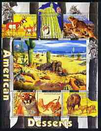 Kyrgyzstan 2004 Fauna of the World - American Desserts perf sheetlet containing 6 values unmounted mint