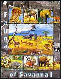 Kyrgyzstan 2004 Fauna of the World - Savanna #1 perf sheetlet containing 6 values unmounted mint