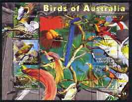 Kyrgyzstan 2004 Fauna of the World - Birds of Australia perf sheetlet containing 6 values unmounted mint