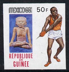 Guinea - Conakry 1969 Hammer 50f imperf proof single from limited printing, from Mexico Olympics set unmounted mint, as SG 679