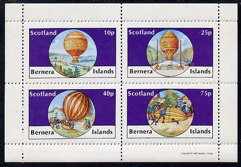 Bernera 1981 Balloons #2 perf set of 4 values (10p to 75p) unmounted mint