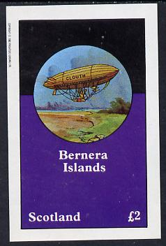 Bernera 1982 Airships imperf deluxe sheet (�2 value) unmounted mint