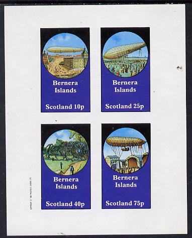 Bernera 1982 Airships imperf set of 4 values (10p to 75p) unmounted mint