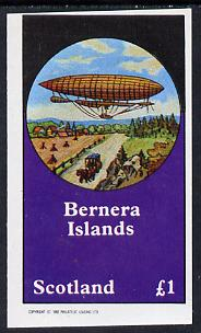 Bernera 1982 Airships imperf souvenir sheet (�1 value) unmounted mint