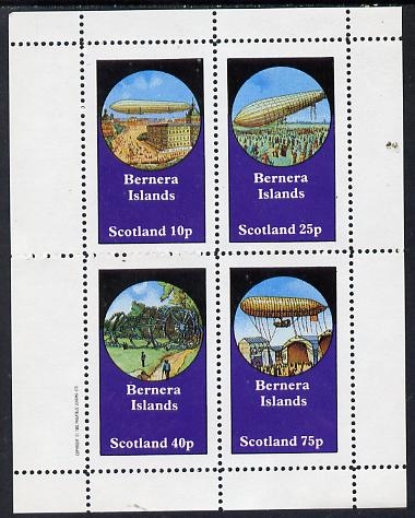 Bernera 1982 Airships perf set of 4 values (10p to 75p) unmounted mint