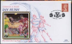 Great Britain 1995 Benham silk cover commemorating Ian Rush Liverpool & Wales with special Coca-Cola Cup Final cancellation