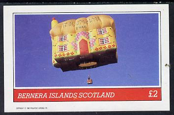 Bernera 1982 Balloons #3 (Nottinghamshire Building Society) imperf deluxe sheet (�2 value) unmounted mint