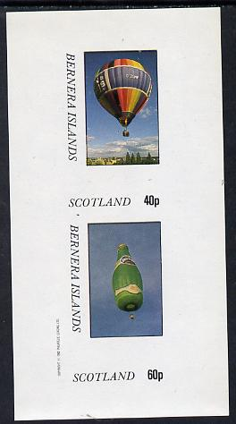 Bernera 1982 Balloons #3 (Advertising Perrier Water & Estate Agents) imperf set of 2 values (40p & 60p) unmounted mint