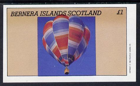 Bernera 1982 Balloons #3 imperf souvenir sheet (�1 value) unmounted mint
