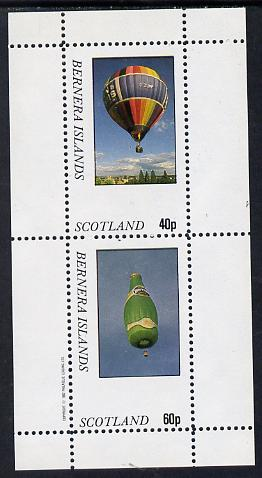 Bernera 1982 Balloons #3 (Advertising Perrier Water & Estate Agents) perf set of 2 values (40p & 60p) unmounted mint